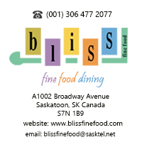 bliss fine food Saskatoon